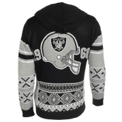 OAKLAND RAIDERS OFFICIAL NFL BIG LOGO HOODED SWEATSHIRT BY KLEW - Backside at Get Me Sports