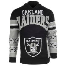 OAKLAND RAIDERS OFFICIAL NFL BIG LOGO HOODED SWEATSHIRT BY KLEW at Get Me Sports