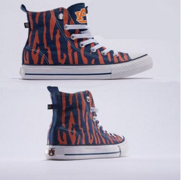 Auburn Tigers Official NCAA Skicks Unisex High Top Sneakers