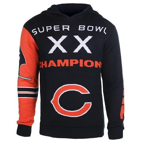 NFL team apparel - Chicago Bears Official NFL Super Bowl Commemorative Acrylic Hoody