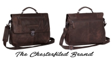 Business Bags for Men from the Chesterfield Brand - Casual Business Bag Large Brown 'George'
